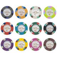 1000 Monaco Club 13.5gm Bulk Clay Poker Chips - Choose Chips!