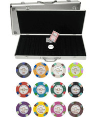 Monaco Club 13.5gm 500 Chip Clay Poker Set with Aluminum Case - Choose Chips!