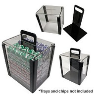 1000 CHIP CLEAR HEAVY DUTY ACRYLIC CARRYING CASE
