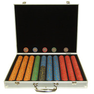 1000PC NEVADA JACKS CASINO 10GM POKER CHIP SET WITH ALUMINUM CASE