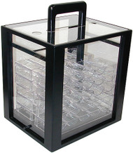 1000 CHIP CLEAR ACRYLIC POKER CHIP CARRIER UPGRADE (TRAYS INCLUDED!) - ONLY IF APPLICABLE 1000 CHIP SET IS PURCHASED