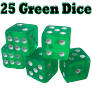Set of 25 Translucent 19mm Dice - Choose Color!