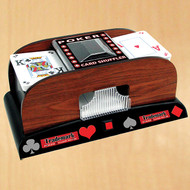 SUITED 2-DECK WOODEN AUTOMATIC CARD SHUFFLER