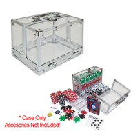 600 Chip Clear Heavy Duty Acrylic Chip Carrier