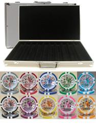 BEN FRANKLIN LASER CLAY 14g 500 Chip Poker Set - CHOOSE!
