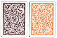 COPAG 1546 ORANGE & BROWN 100% Plastic Cards - 2 Decks