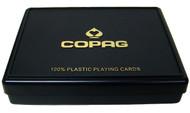 COPAG PLASTIC CARD BOX - FITS 2 DECKS OF CARDS
