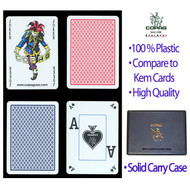 COPAG POKER PEEK 100% Plastic Cards - 2 Decks