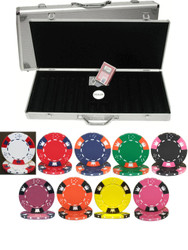 CROWN & DICE 500 CHIP 14g CLAY POKER SET - CHOOSE CHIPS
