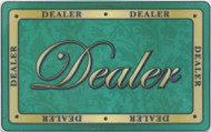 FORMAL DEALER BUTTON Ceramic Poker Plaque