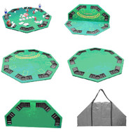 2-IN-1 POKER FOLDING TABLE TOP WITH TRAYS