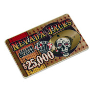NEVADA JACKS POKER CHIP PLAQUE - CHOOSE