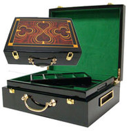 QUALITY HIGH GLOSS WOODEN 500 Chip Poker Case