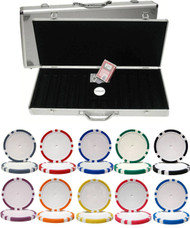 8-STRIPE 14gm CLAY 500 Chip Poker Set with Aluminum Case