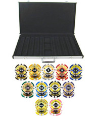 BLACK DIAMOND LASER 14g CLAY 1000 Chip Poker Set with Aluminum Case