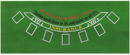 BLACKJACK GREEN FELT LAYOUT