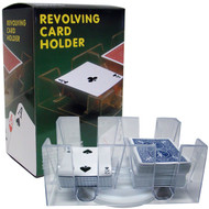 6-DECK ACRYLIC REVOLVING PLAYING CARD HOLDER