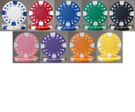 DIAMOND SUITED 12.5gm Poker Chip Sample Set - 9 Different Chips!