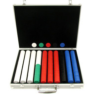 1000PC CLASSIC DIAMOND 9GM CLAY POKER CHIP SET WITH ALUMINUM CASE