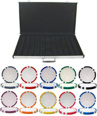 8-STRIPE 14gm Clay 1000 Chip Poker Set with Aluminum Case
