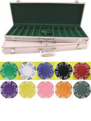 500PC ROYAL SUITED 11.5gm Poker Chip Set with Aluminum Case