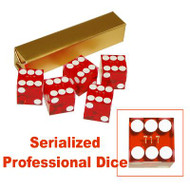 STICK (5) of Precision Casino Craps DICE - CHOOSE COLOR!