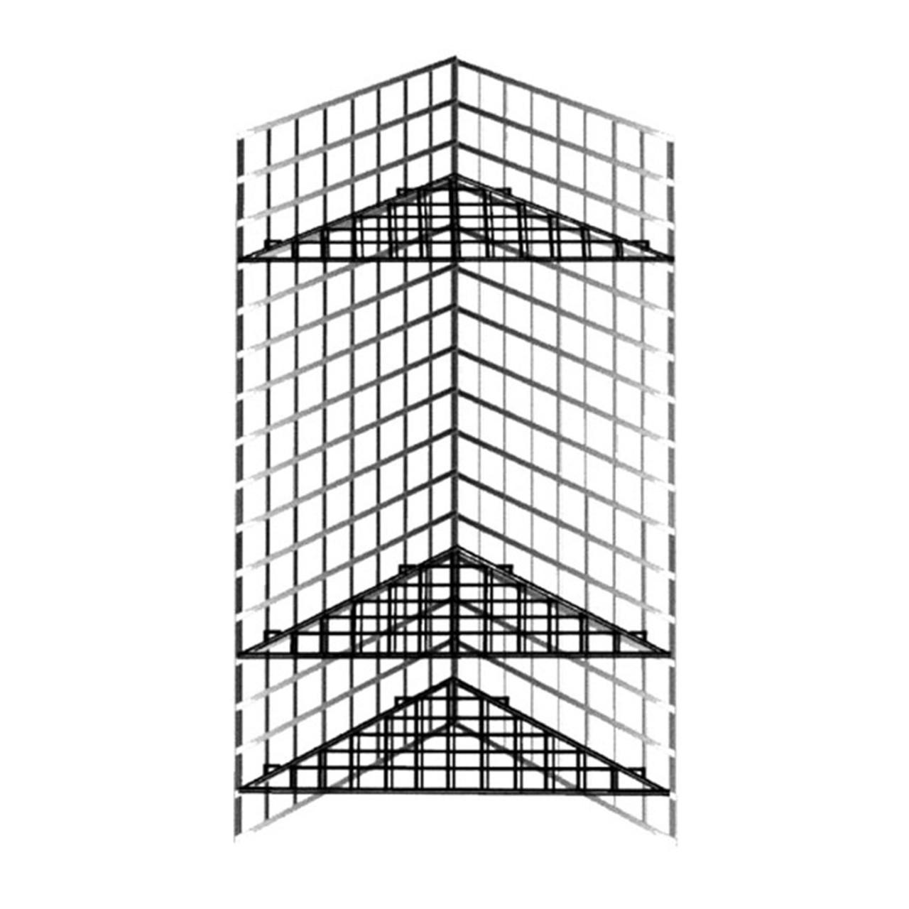 Grid Triangle Corner Shelf