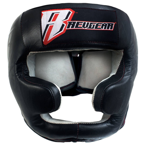 Leather Headgear with Cheek and Chin Protection