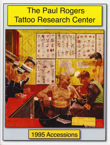 1995 Paul Rogers Tattoo Research Center Accession Book