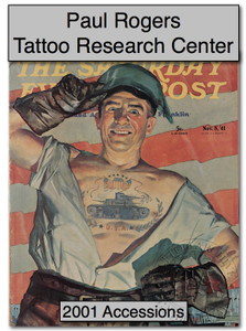2001 Paul Rogers Tattoo Research Center Accession Book