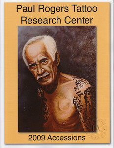 2009 Paul Rogers Tattoo Research Center Accession Book