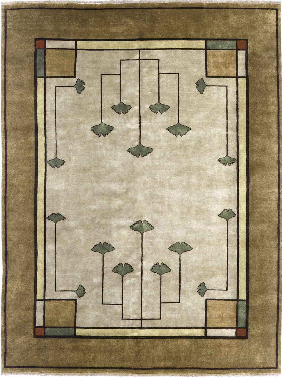 Ginkgo Rug Pc 21a The Mission Motif