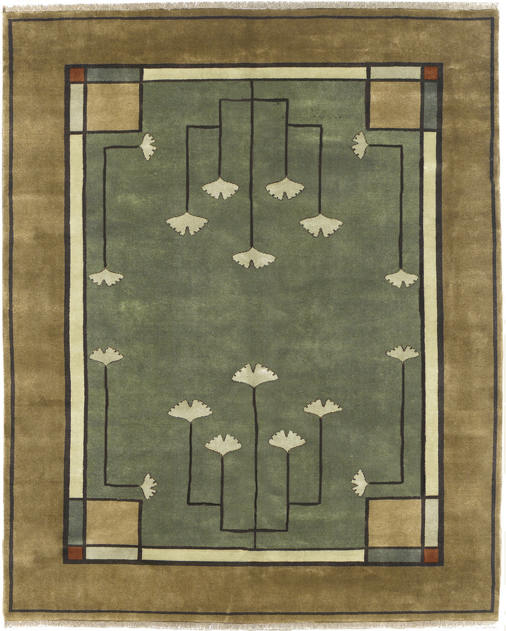 Amazing The Ginkgo Rug PC 21B Is 100% Wool And Hand Knotted.