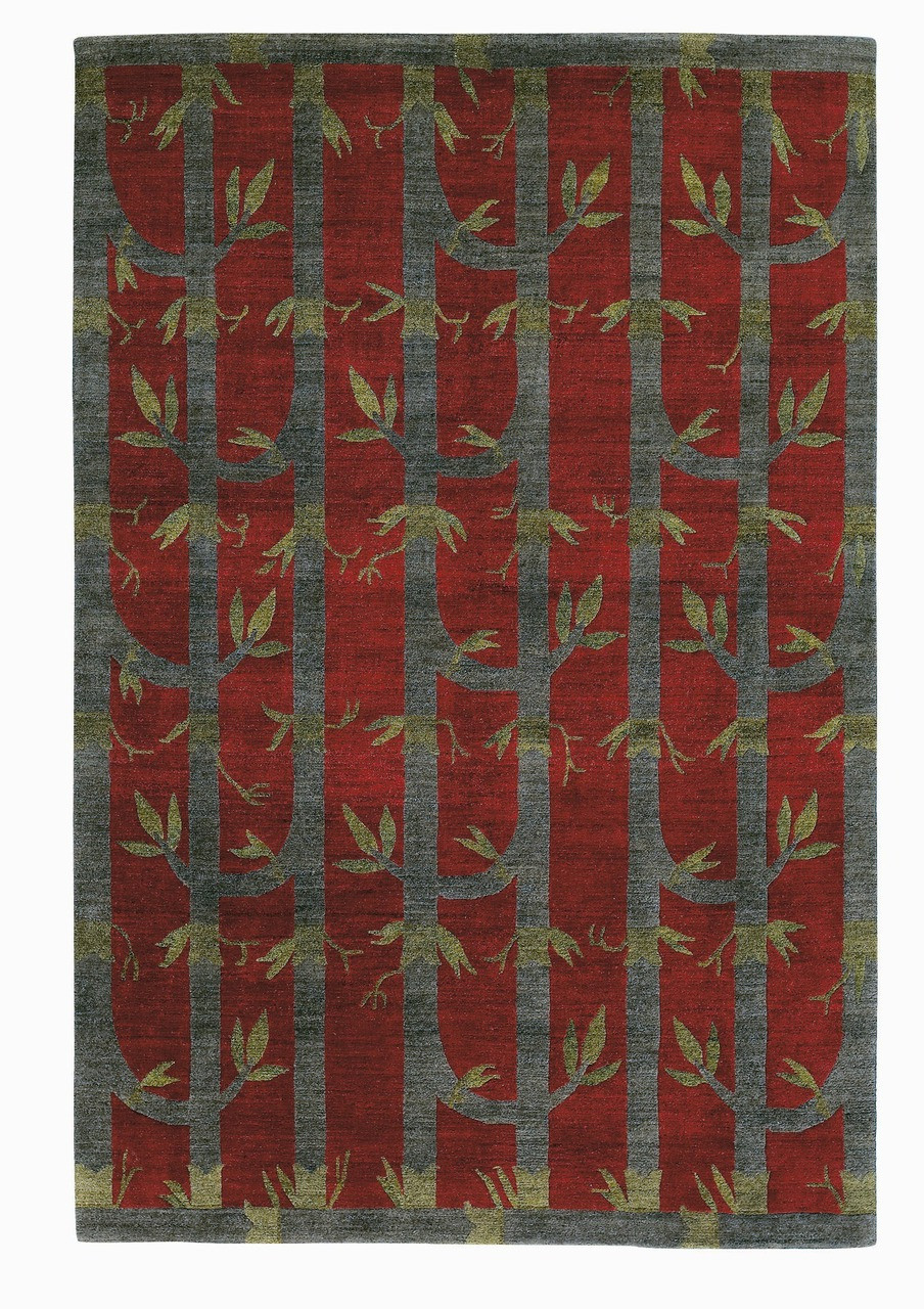 Craftsman Bamboo Red Rug The Mission Motif