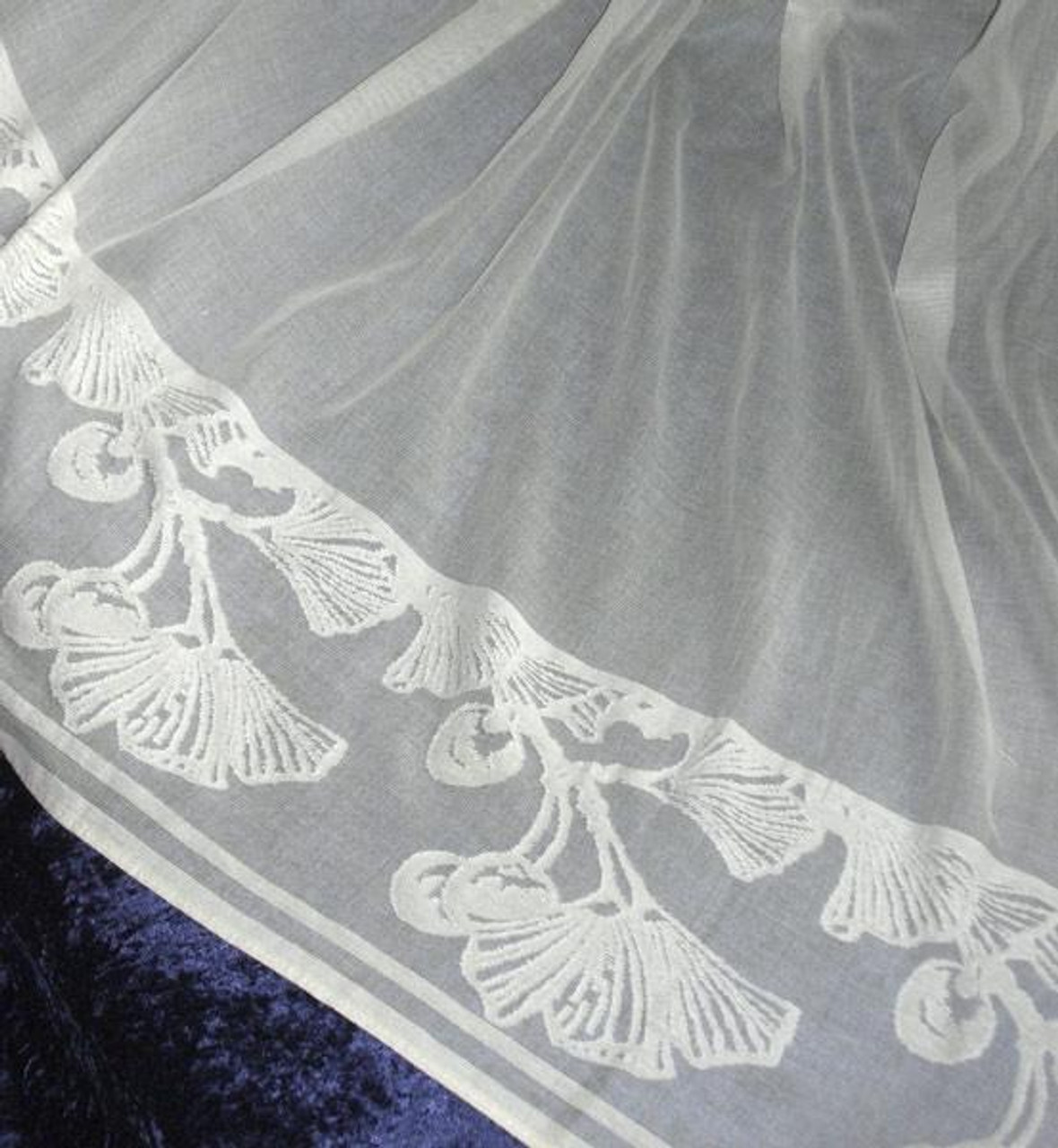 ginkgo leaf lace curtain panel