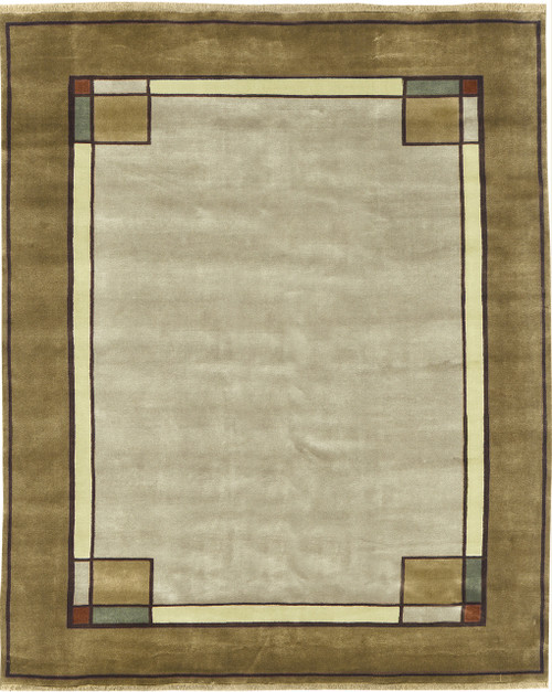 The Ginkgo Border Craftsman Style Rug PC-29A.