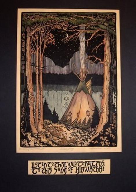 Hiawatha Panel 3 Print by Kathleen West