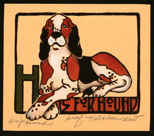 H is for Hound Print