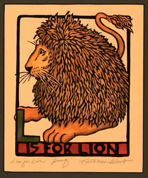 L is for Lion Print