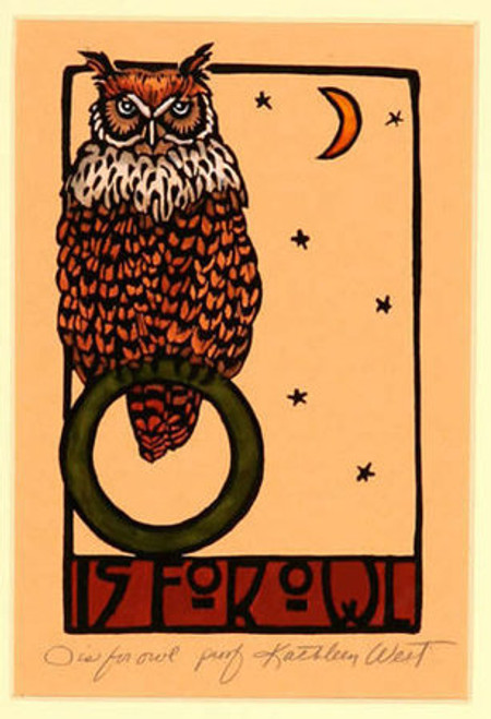 O is for Owl Print