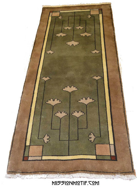 The Ginkgo Leaf Hall Runner Rug