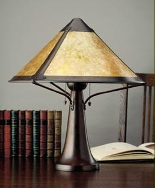 the mica lamp company large trumpet lamp ml014