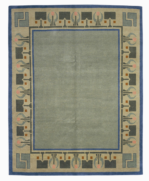 Craftsman Arrowroot Persimmon Rug The Mission Motif