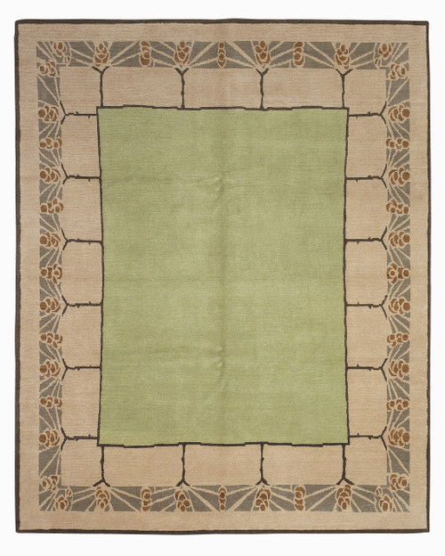 Hooked Wool Pine Cone Rug 6 X 9 Hearth Rugs