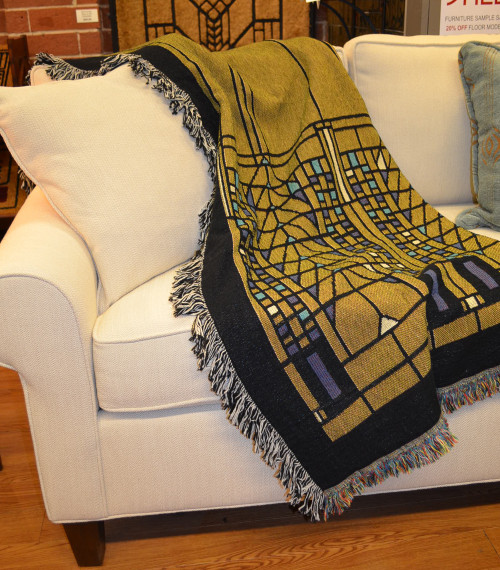 Frank Lloyd Wright Tree of Life Throw Blanket