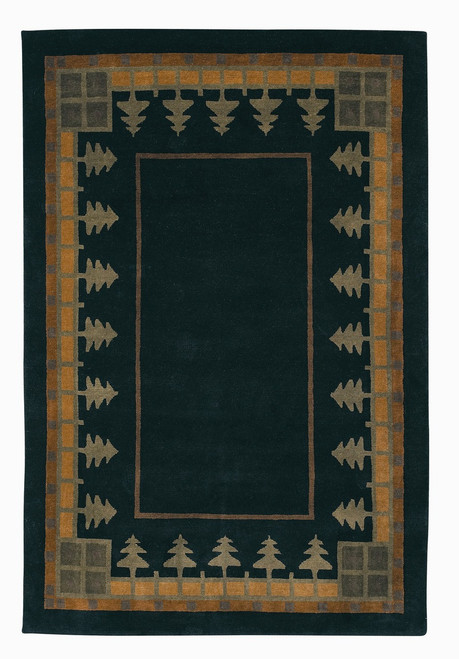 Craftsman Pine Forest Meadow Rug The Mission Motif