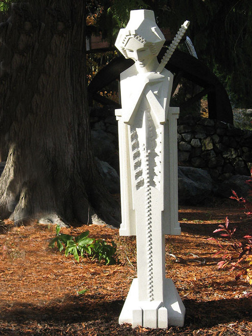 Midway Gardens Sprite with Baton and Pedestal