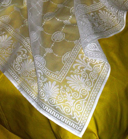 Grecian Lace Curtain Panel