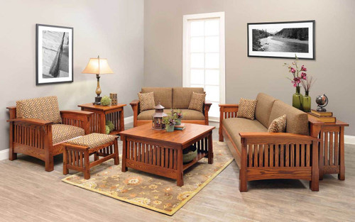 Country Mission Style 7 Piece Living Room Set 4575 QF Part 35