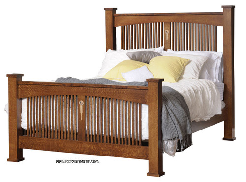 Craftsman Spindle Bed with Inlay CRW-BD